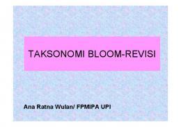 Taksonomi Bloom Revisi 1 - File UPI