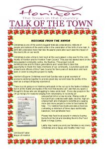 TALK OF THE TOWN - Honiton Town Council