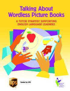 Talking About Wordless Picture Books: A Tutor Strategy Supporting