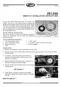 TAMER KIT INSTALLATION INSTRUCTIONS