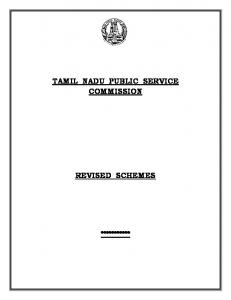 TAMIL NADU PUBLIC SERVICE COMMISSION REVISED ...