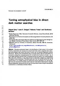 Taming astrophysical bias in direct dark matter searches - arXiv