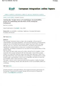 Taming the 'Trojan Horse' of Comitology? Accountability ... - EIOP.OR.at