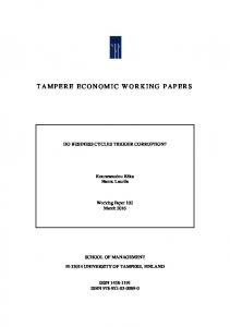 tampere economic working papers - TamPub