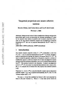 Tangential projections and secant defective varieties