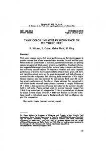 TANK COLOR IMPACTS PERFORMANCE OF CULTURED FISH