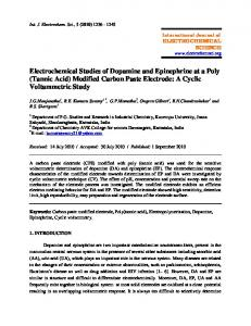 (Tannic Acid) Modified Carbon Paste Electrode - International Journal