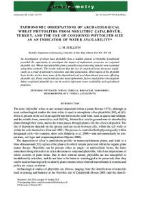 TAPHONOMIC OBSERVATIONS OF ... - Wiley Online Library