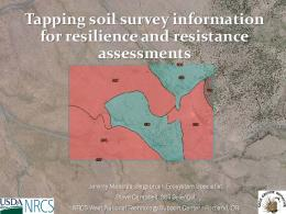 Tapping soil survey information for resilience and ...
