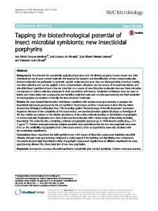 Tapping the biotechnological potential of insect ... - BMC Microbiology