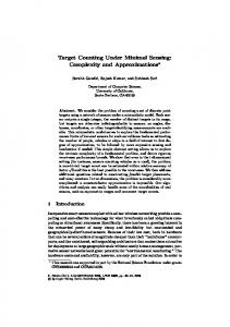 Target Counting Under Minimal Sensing: Complexity and