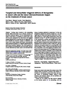 Targeted and intracellular triggered delivery of therapeutics to cancer ...