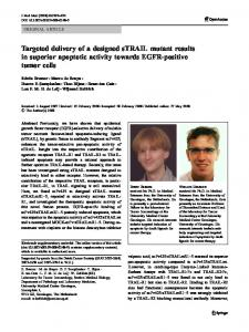 Targeted delivery of a designed sTRAIL mutant ... - BioMedSearch