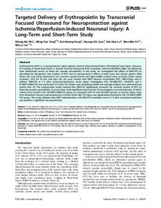 Targeted Delivery of Erythropoietin by Transcranial Focused ... - Plos