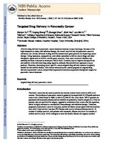 Targeted Drug Delivery in Pancreatic Cancer.pdf