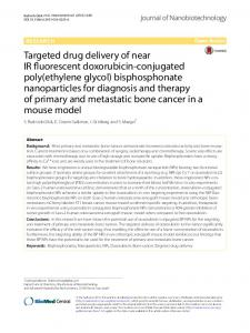 Targeted drug delivery of near IR fluorescent doxorubicin-conjugated ...
