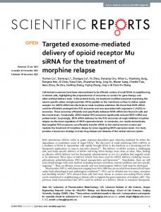 Targeted exosome-mediated delivery of opioid receptor Mu siRNA for ...