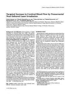 Targeted increase in cerebral blood flow by transcranial nearinfrared ...