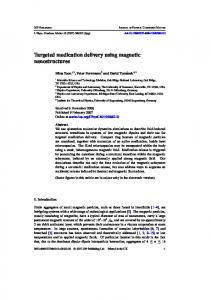Targeted medication delivery using magnetic ... - Semantic Scholar