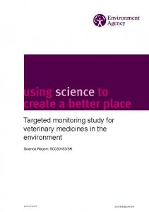 Targeted monitoring study for veterinary medicines in the ... - Gov.uk