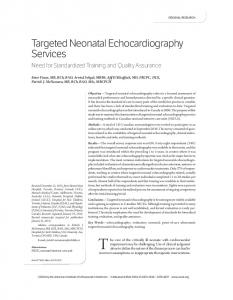 Targeted Neonatal Echocardiography Services - Wiley Online Library