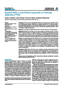 Targeted NGS: a cost-effective approach to molecular ... - Frontiers