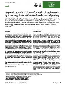 Targeted redox inhibition of protein phosphatase 1