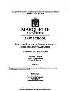 targeted reform of commercialized intercollegiate ... - SSRN papers