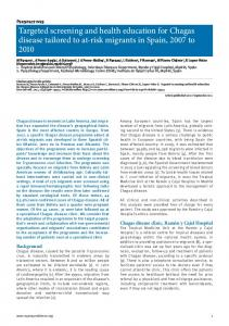 Targeted screening and health education for ... - Eurosurveillance