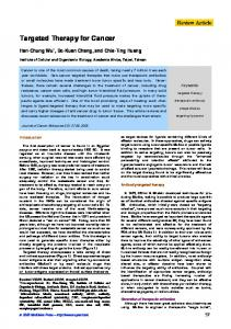 Targeted Therapy for Cancer - Semantic Scholar
