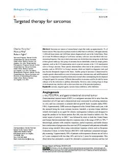 Targeted therapy for sarcomas - CiteSeerX