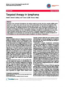 Targeted therapy in lymphoma   SpringerLink
