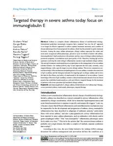 Targeted therapy in severe asthma today: focus on ... - Semantic Scholar