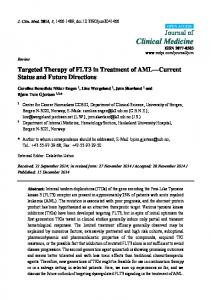 Targeted Therapy of FLT3 in Treatment of AML ... - Semantic Scholar