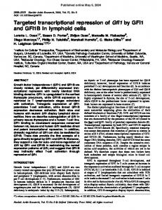 Targeted transcriptional repression of Gfi1 by GFI1