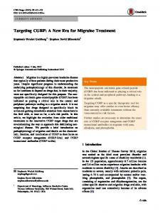 Targeting CGRP: A New Era for Migraine Treatment | SpringerLink