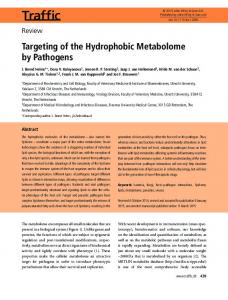 Targeting of the Hydrophobic Metabolome by ... - Wiley Online Library
