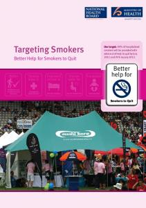 Targeting Smokers To Quit - Ministry of Health