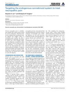 Targeting the endogenous cannabinoid system to treat ... - Frontiers