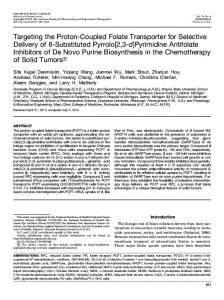 Targeting the Proton-Coupled Folate Transporter for ...