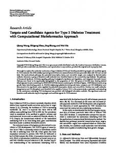 Targets and Candidate Agents for Type 2 Diabetes Treatment with ...