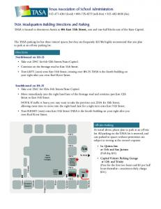 TASA Headquarters Building Directions and Parking Texas ...