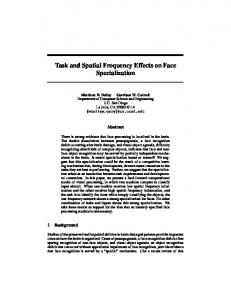 Task and Spatial Frequency Effects on Face ... - Semantic Scholar