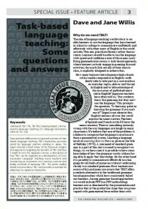 Task-based language teaching: Some questions ... - JALT Publications