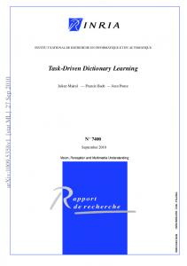 Task-Driven Dictionary Learning