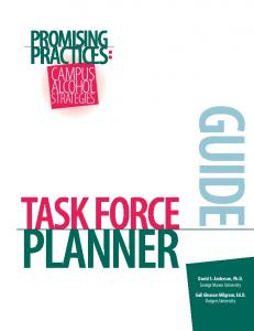 Task Force Planner - Center for the Advancement of Public Health