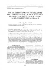 tax competition and its consequences for tax revenue structure in