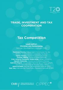 Tax Competition - T20 Argentina