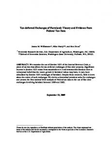 Tax-deferred Exchanges of Farmland: Theory and Evidence from ...