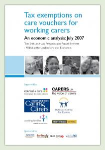 Tax exemptions on care vouchers for working carers - LSE Research